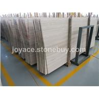 嘉岩石材独家供应超白底白木纹大板 纹路均匀高档