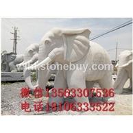 大象,小象,狮子,石材雕刻