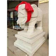 景区石雕大象 吉祥石雕大象 大象专业制作厂家
