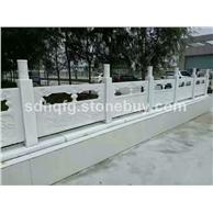 低价河道石护栏青石石栏杆汉白玉石栏板绿砂岩石护栏