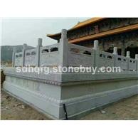 厂家低价河道石护栏青石石栏杆汉白玉石栏板绿砂岩石护栏