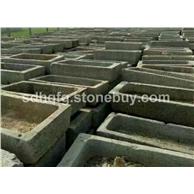 大量供应老石槽磨盘风水球古代石器石碾水槽
