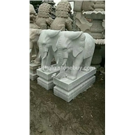 石雕大象石象汉白玉小象