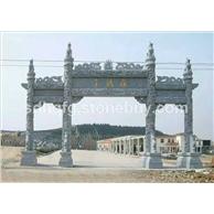广场寺庙道路公园雕刻石牌坊石牌楼石门拱门仿古做旧石牌楼