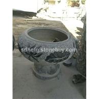 青石仿古花缸花盆石缸雕刻圆缸