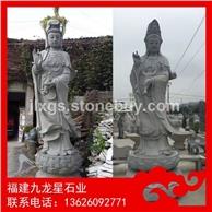石雕观音现货 户外3米观音 石材佛像加工