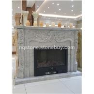F-182香港装饰壁炉架MANTEL意大利进口中花白大理石壁炉架