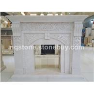 F-055白玉兰大理石装饰石材壁炉架Fireplace Mantel