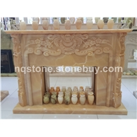 F-032桔子玉石欧式古典风格壁炉架Fireplace Mantel)