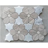 卡拉拉白+白木纹