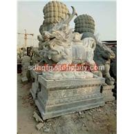 青石石雕麒麟神兽雕塑做工精细厂家直销