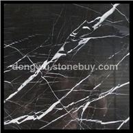黑白根大理石 黑色天然大理石 批发大板 荒料 线条
