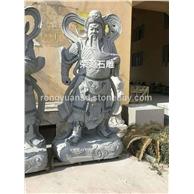 惠安石雕寺庙佛像芝麻黑石雕关羽 古代人物雕塑
