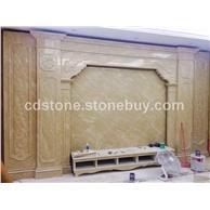 天然大理石板雅士白大理石水刀拼花石材家具台面过门石背景墙定制