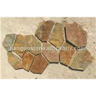 锈板切边石 蜂窝形网粘