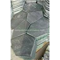 黑色板岩网贴 切边石贴 室内外装修石材