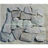 绿石英碎拼铺路石 踏步石 公园广场小道石
