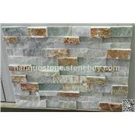 玉石锈石胶粘石 茶馆背景墙