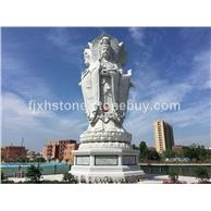 寺院四面觀音石雕造像