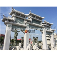 石雕刻牌楼