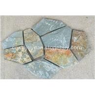 供应出口俄罗斯联邦地区天然绿锈冰裂纹文化石