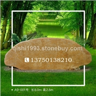 A9-001号广东黄蜡石 园林黄腊石 刻字景观石 小区题名景观石大型黄蜡石、刻字石、大型景观石、奠基