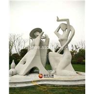 抽象石材城雕 艺术石雕像
