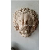 汉白玉 狮面石雕