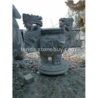 青石雕刻香炉