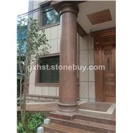 楓葉紅花崗巖柱子 柱子皮 楓葉紅包住 門柱