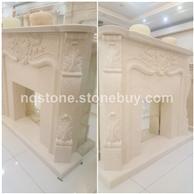 世纪米黄大理石壁炉