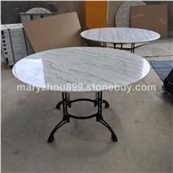 天然大理石板 白色圆形大理石板 大理石桌 厂家直销批发