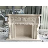 A级白玉兰大理石手工雕刻壁炉