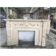 别墅大厅白玉兰大理石欧式雕刻壁炉