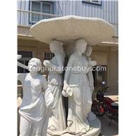 白麻石雕人像
