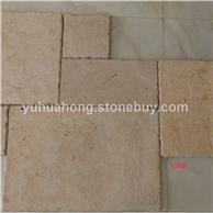 石灰石莱姆石古堡面自然面墙体地铺石景观石