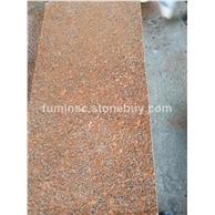 光泽红帝王红花岗岩喷沙面石材映山红富贵红石材厂家真销