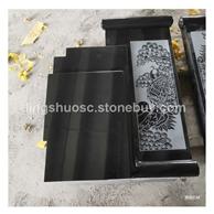 中国黑石材墓碑