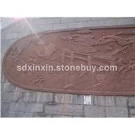 花岗岩石材雕刻  背景图
