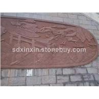 花崗巖石材雕刻   背景圖