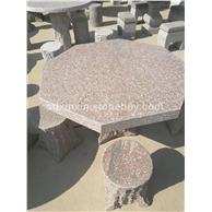 花岗岩石材雕刻   石桌