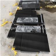 山西黑墓碑 河北黑石材墓碑 中国黑花岗岩墓碑