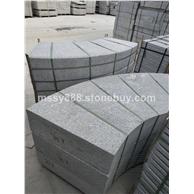 大鸿石业小铁灰/珍珠灰石材弧形加工