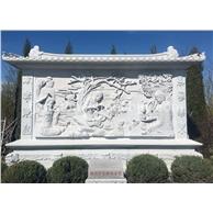 佛文化石浮雕照壁墙