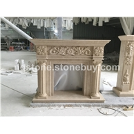 F-82大理石壁炉架Fireplace Mantel