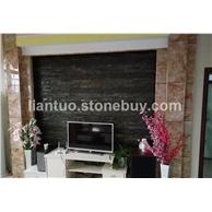板岩电视背景墙