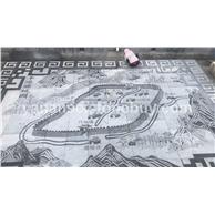 浮雕壁画石材雕刻地图
