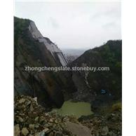 黑青石、綠青石、銹石板巖礦山
