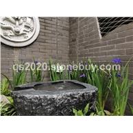 良好園林 黑山石野山石庭院花園異形加工水砵黑山石加工