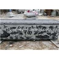 宜昌青石石雕花缸